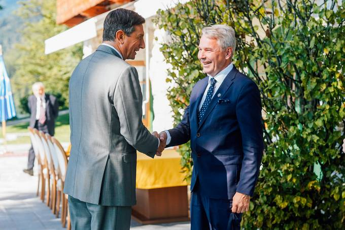 President of the Republic of Slovenia Borut Pahor holds several bilateral talks on the margins of the Bled Strategic Forum (BSF)