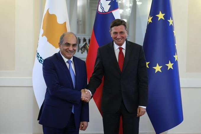 President Pahor receives Demetris Syllouris, Speaker of the House of Representatives of the Republic of Cyprus