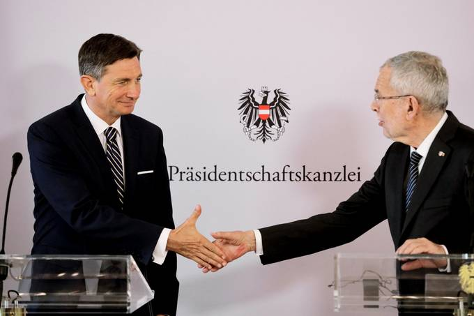 President Pahor and Federal President Van der Bellen affirm excellent relations between the countries in Vienna and speak in favour of a joint commemoration of the one hundredth anniversary of the Carinthian Plebiscite