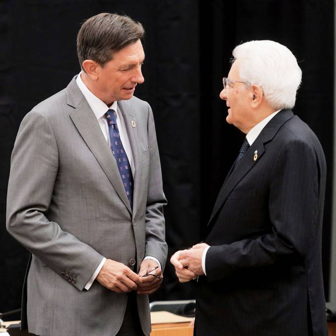President Pahor and Italian President Mattarella together at next year's commemoration of the 100th anniversary of the burning down of Trieste National Hall