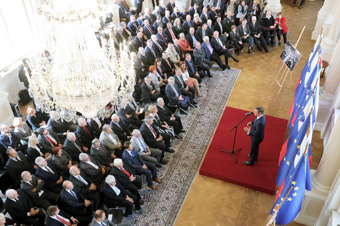 President Pahor held the reception on the occasion of the 30th anniversary of the announcement of amendments to the constitution of the Socialist Republic of Slovenia