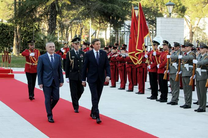 The President of the Republic of Slovenia, Borut Pahor, on official visit to the Republic of Albania