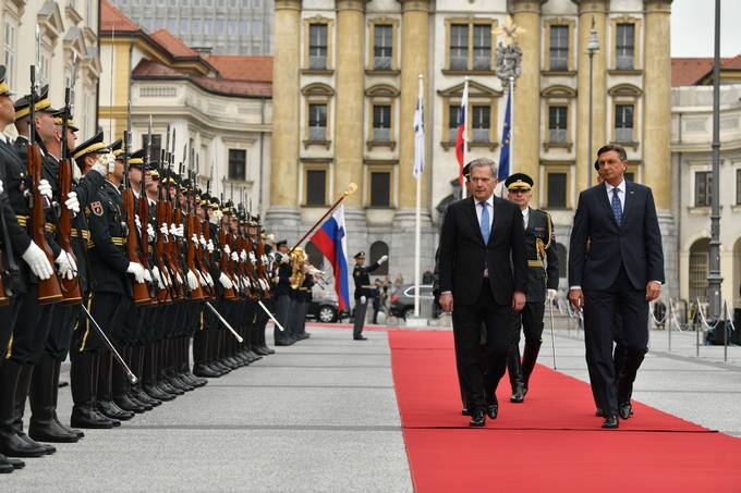 Finnish President Niinistö on an official visit to Slovenia at the invitation of President Pahor