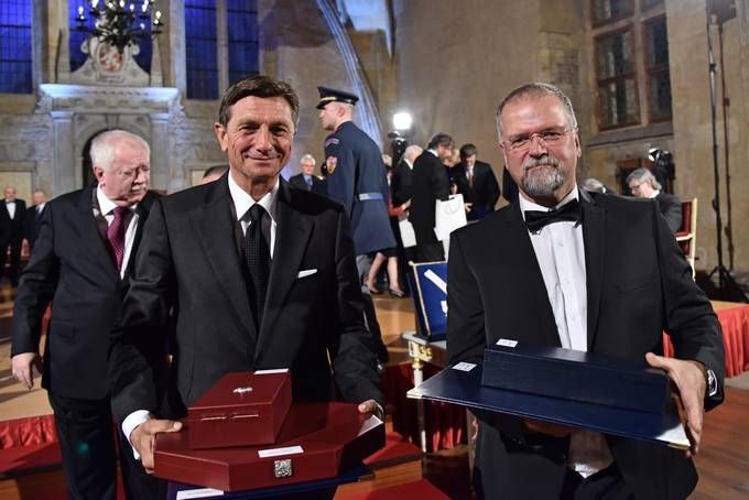 President Pahor receives the highest order of the Czech Republic, the Order of the White Lion