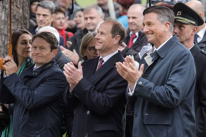 President Pahor and Prince Edward mark the first Slovenia-UK Friendship Day in Gornji Suhor