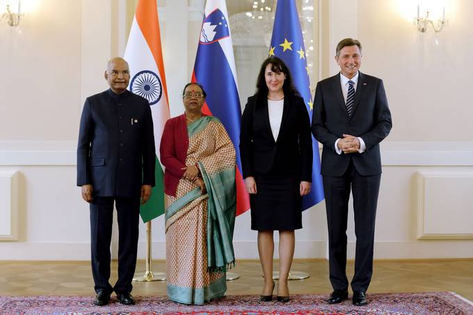 President Pahor on first official visit of Indian President to Slovenia: an opportunity to open a new chapter in relations between the two countries