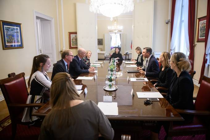 President Pahor receives Dutch Foreign Minister Stef Blok