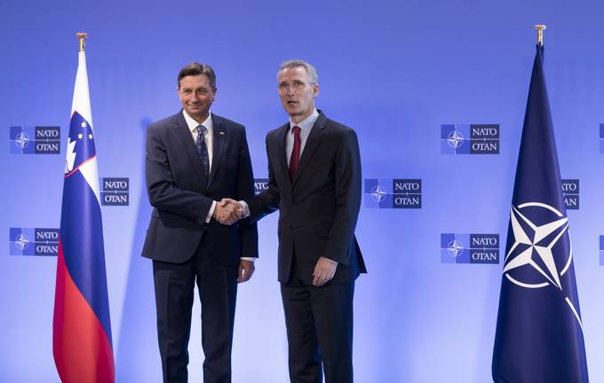 President Pahor in Brussels - with Stoltenberg