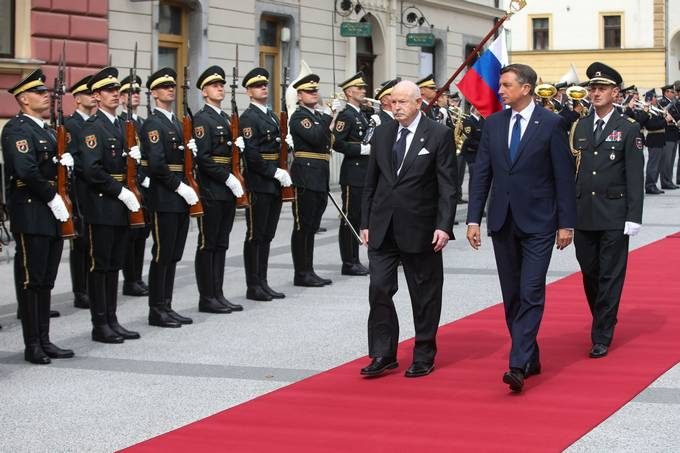 President Pahor hosts the Grand Master of the Sovereign Military Order of Malta; the official visit focuses particularly on good humanitarian cooperation
